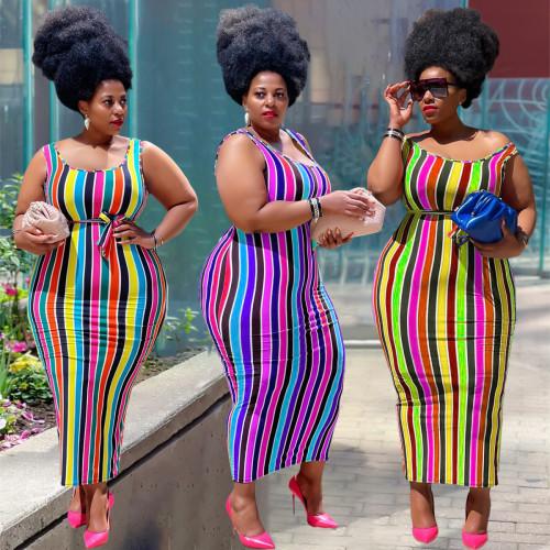 Women plus size dress Y10009