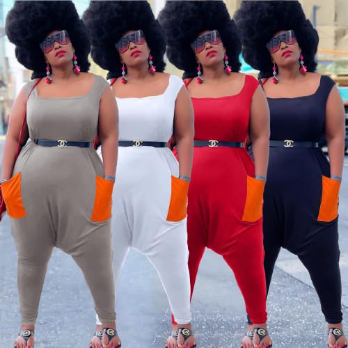Women plus size jumpsuit Y10011