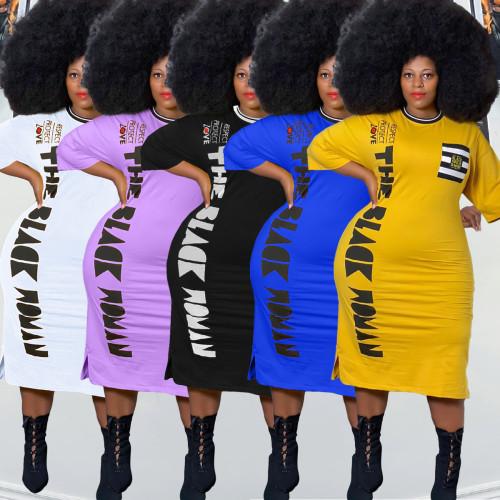 Women plus size dress Y10007