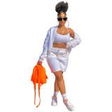 Women coat and pants set LD81015