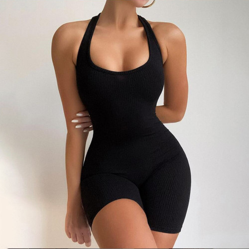 sexy short halter jumpsuit K20Q10746