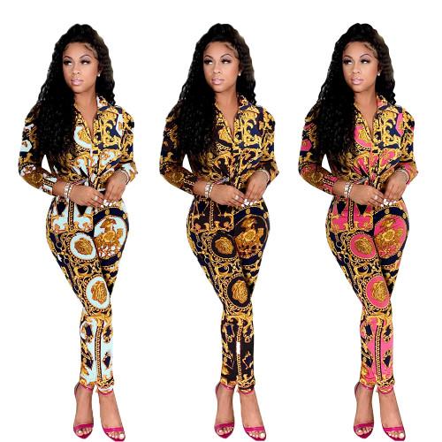 fall  women two piece pants set CM2150