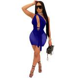 Club backless mesh dress M3071