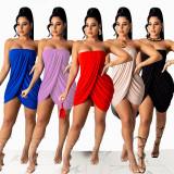 Sexy tube top dress M3039