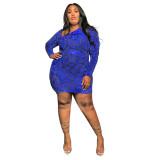 plus size  women dress P390161