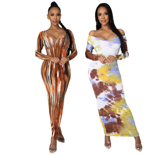 sexy long sleeve dress10302