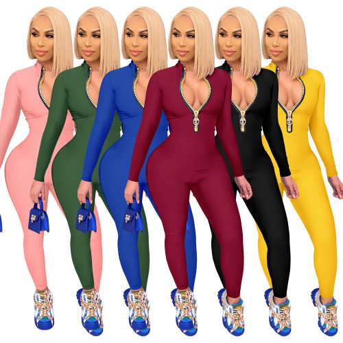 sexy long sleeve jumpsuit 2655