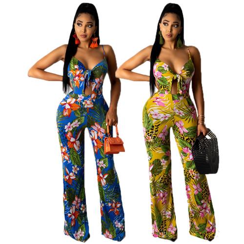 sexy print jumpsuit 10146