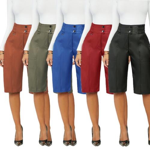 PU leather pants M3091