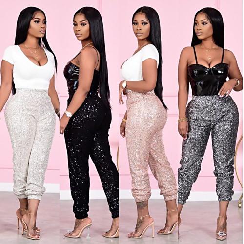 women sequin pants M2928