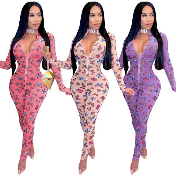 mesh bodysuit jumpsuits women S390197