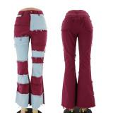 fashion patchwork pants A007