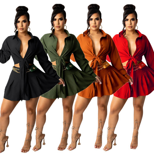 sexy two piece women skirt suit CM2153