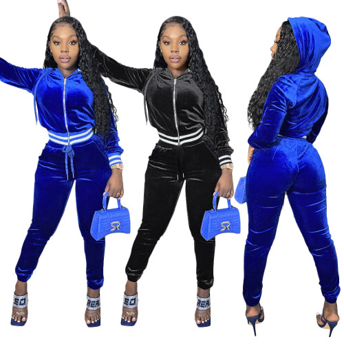 sexy hooded two piece tracksuit S390206
