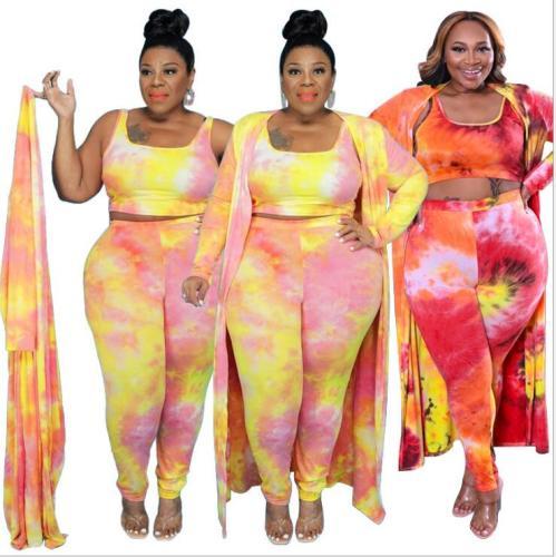 plus size three piece women clothing 21276