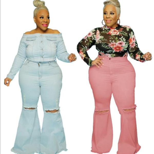 sexy flare plus size jeans 21105