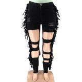 sexy tassel plus size jeans 21178
