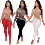 sexy see through sequin women jumpsuit S390212