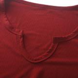 v-neck women dress 2667