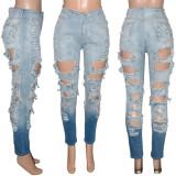 women ripped jeans pants S390208
