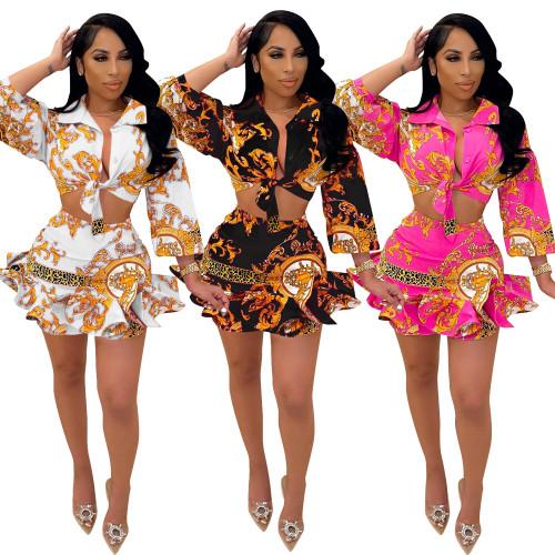 two piece women skirt suit  CM2157