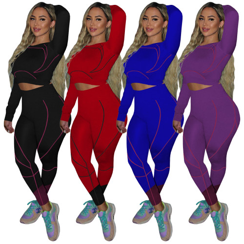 Women sport yoga outfits 4336