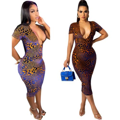 sexy v-neck dress 10642