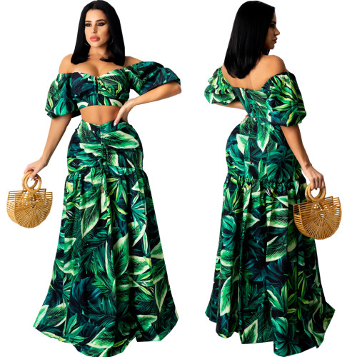 sexy two piece skirt set 10651