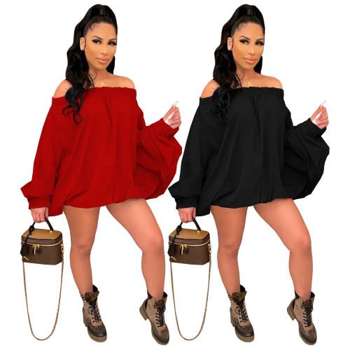 Women long sleeve dress 4350