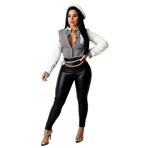 Women long sleeve blouse G0424