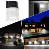 [2-PACK]13W Mini LED Wall Pack With Photocell- 1400 Lumens - 100-277VAC - 50W MH/HPS Equivalent - 5000K