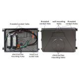 80W LED Wall Pack - 9600 Lumens - 100-277VAC - 400W Metal Halide Equivalent - 5000K
