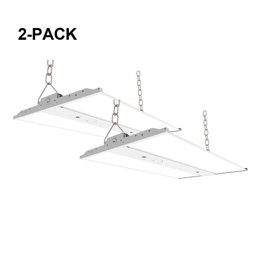 [2 Pack] 4FT - 200W(180W/220W Settable) -Linear LED High Bay - 28000lm - 100-277/347VAC - 0-10V Dim - 800W Metal Halide Equivalent - 5000K