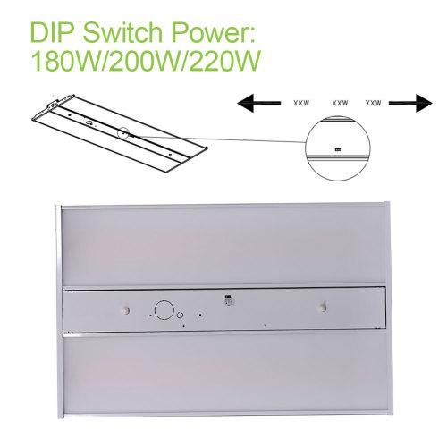 [2 Pack] 4FT - 200W(180W/220W Settable) -Linear LED High Bay - 28000lm - 100-277/347VAC - 0-10V Dim - 800W Metal Halide Equivalent - 5000K