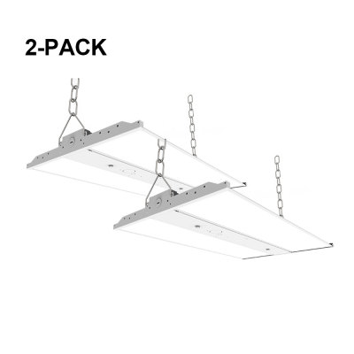 [2 Pack] 2FT - 150W (125W/165W Settable) Linear LED High Bay - 0-10V Dim - 21000lm - 120-347VAC - 525W MH/HPS Equivalent - 5000K