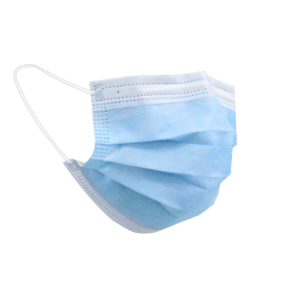 【1000pcs/ Carton】FDA CEarloop Pleated 3 Ply Non Woven Disposable Face Mask