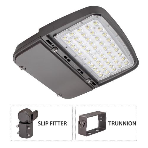 75W/100W/150W Power Switchable LED Parking Lot & Shoebox - Up to 180Lm/W - 100-277VAC - Type III - 1-10V Dim - Photocell - 5000K - ETL DLC Premium