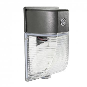 26W Mini LED Wall Pack With Photocell- 2860 Lumens - 100-277VAC - 80W MH/HPS Equivalent - 5000K