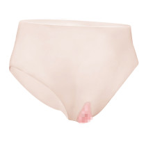 JUYO VONSAN Crossdresser Panties Silicone Panites Crossdressing Apparel for Crossdressing with Fake Vagina Tube