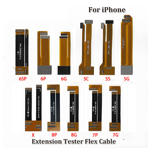 LCD Display Test Touch Screen Extension Tester Flex Cable For Iphone 4 4S 5 5S 5C 6G 7G 8G 6S 7 8 plus X Xs Max XR