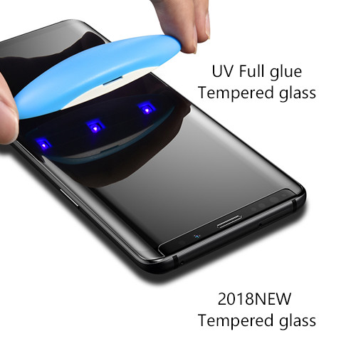 UV full Glue Tempered Glass For Samsung edge glass Full clear, full cover, full touch sensitiveness