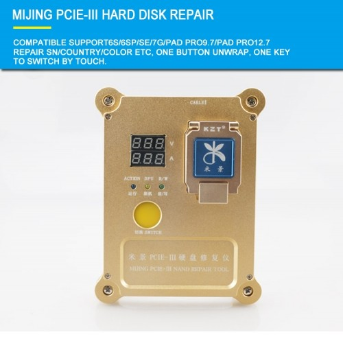 PCIE-III Hard Disk Repair Instrument For iPhone 6S/6SP/7G/7P/PAD PRO9.7/Pad Pro12.7