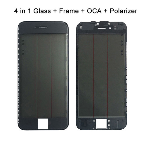 4 in 1 Orignal Cold Pressed Glass+Frame+OCA+Polarizer For iPhone5G 5C 5S 6G 6Plus 7G 7Plus 8G 8Plus