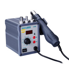 Fast 858D LED Digital ESD Adjustable lead-free hot air station hot air gun with helical wind 700W air soldering station