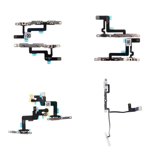 Volume Button Flex Cable with Metal Bracket For iPhone Xs MAX Xs X 6SP 6P 6G