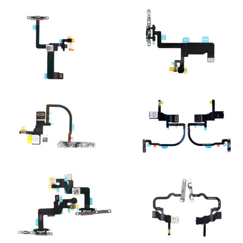 Power On /Off Flex Cable Power Button Flex Cable with Metal Bracket For iphone XS Max  XS X 6SP 6P 6G