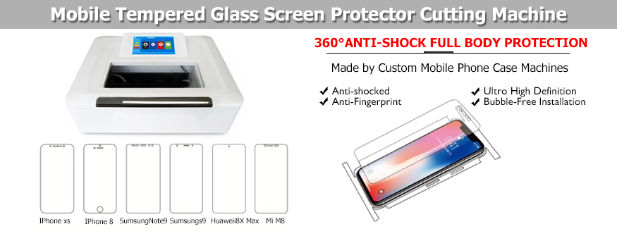 built-in computer mobile tempered glass screen protector cutting machine with all phone datas
