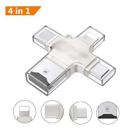 Metal SD Card Reader micro sd memory OTG Card adapter for iphone ios tipy c micro Android phone Computer Card Reader (without TF card)