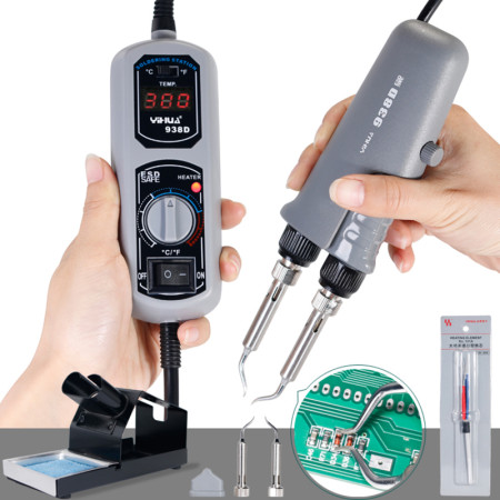 938D portable digital display thermostat electric soldering iron intelligent PID temperature control mini tweezers electric sold