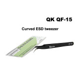Quick QK QF-11 QF-15 straight curved tweezers practical ESD anti-static stainless steel tweezers